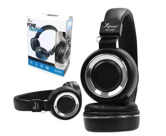 Headphone Fone Ouvido Extra Bass Kp-422