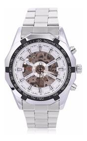Relógio Masculino Automático Esqueleto De Luxo Branco