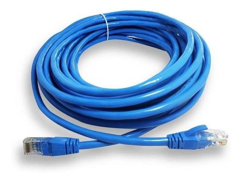 Cable Patch Cord Qpcom Cat6 Utp 5m Azul Rj45