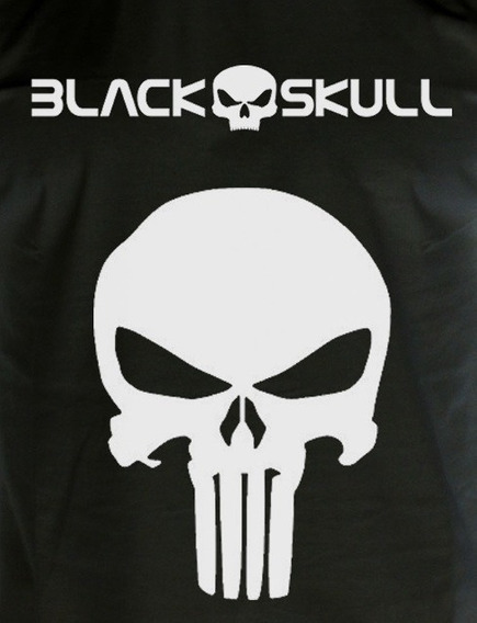 Camiseta Caveira Preta Justiceiro De Musculação Academia