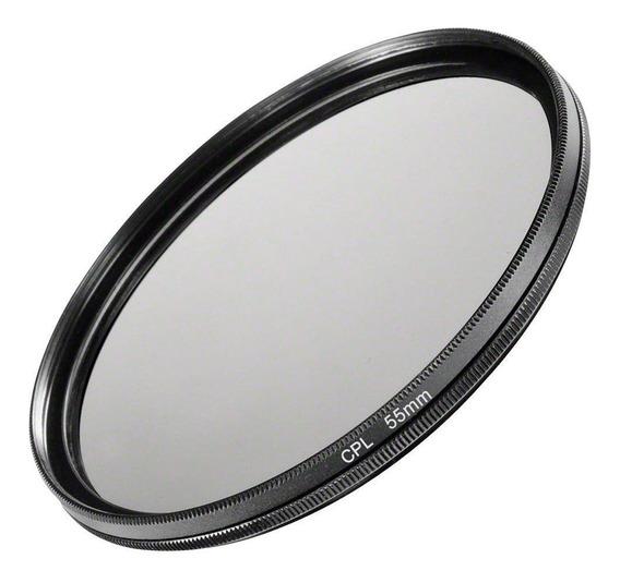 Filtro Cpl Polarizador Tira Reflexo P/ Lente Câmera Fotográfica 55mm