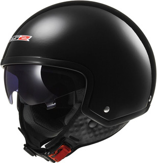 Casco Moto Ls2 561 Wave Solid Negro Brillo Talle L