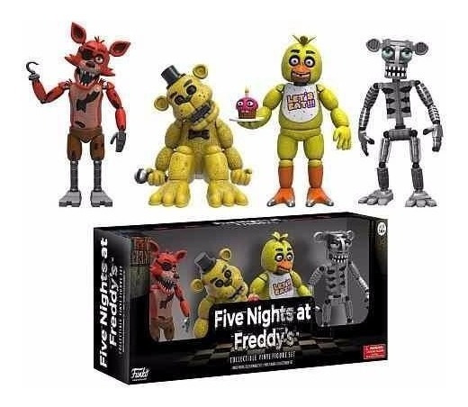 Five Nights At Freddy Foxy Gold Freddy Chica Endoskeleton