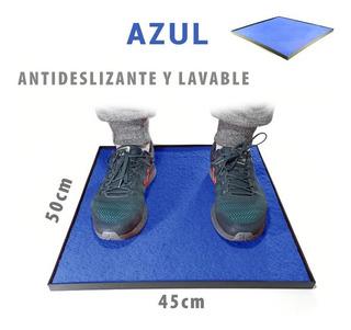 Alfombra Sanitizante Bandeja Desinfeccion Calzado - Azul