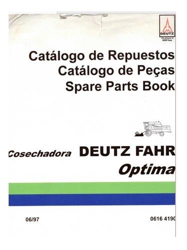 Manual Despiece Repuestos Cosechadora Deutz Fahr Optima