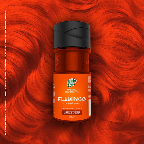 Tinta Flamingo Laranja Intenso 150ml Kamaleão K14553