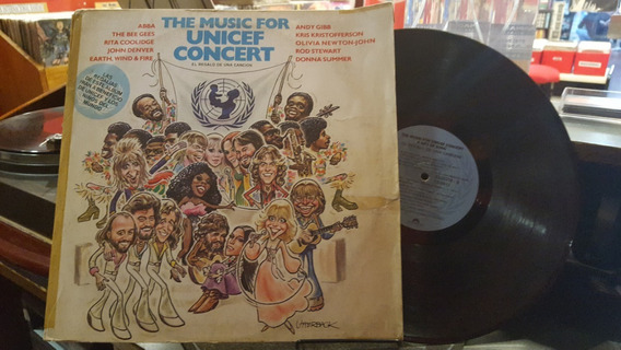The Music Of Unicef Concert Bee Gees Abba Lp Vinilo Ex+