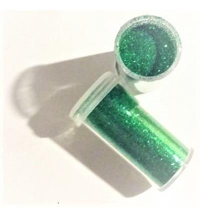 Imagen 1 de 1 de Gibre Purpurina Maquillaje Titi Tubo 8cc Verde Oscuro