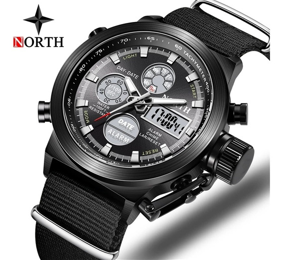 Relógio North, Analógico/digital, Esportivo/militar