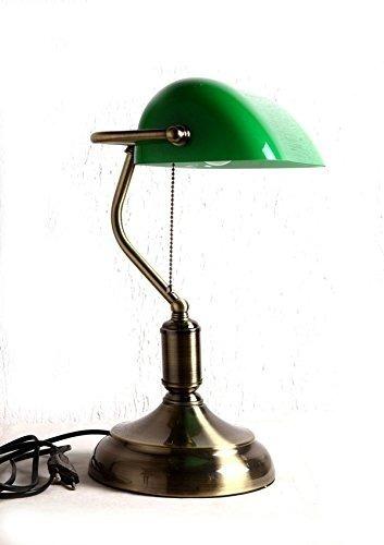 Luminária De Mesa Clássica De Luxo Estilo Inglês Verde Bivol