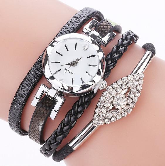 Relógio Feminino Pulseira Vintage De Strass Promoção Barato