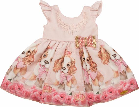 Vestido Cachorro Cachorrinho Princesa Festa Bebe Baby Luxo