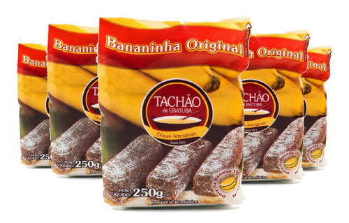 Imagem 1 de 1 de Bananinha Original Tachão De Ubatuba 250g ( 5 Und )