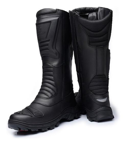 Bota Tatica Militar Motociclista Cano Longo 4046