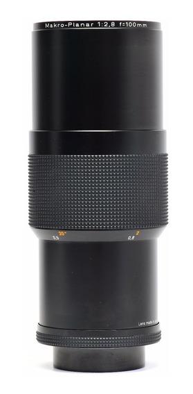 Objetiva Zeiss Cy 100mm 2.8 Makro Planar 7832889 Impecável