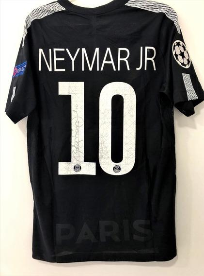 Camisa Do Psg Neymar Jr De Jogo Autografada