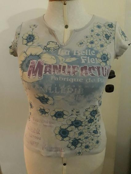 Camiseta Baby Look G Estampa Flores Delicada