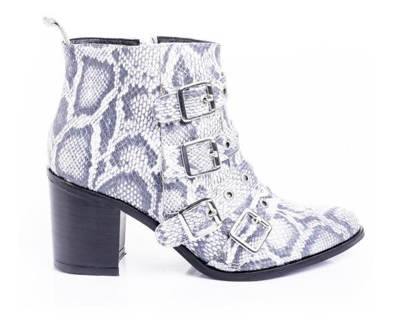 Botas Zapatos Mujer Botinetas Texanas Cuero Apliques Moda 19