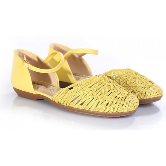 Sandalia Feminina Piccadilly 240046 - Amarelo