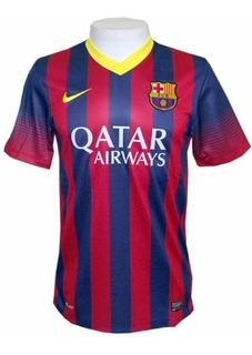 Camisa Nike Barcelona I 2013/2014 - Azul-grenã