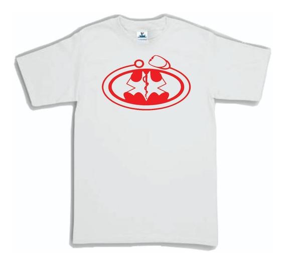 Playera Dc Batman Doctor Medico Paramedico Enfermera Logo