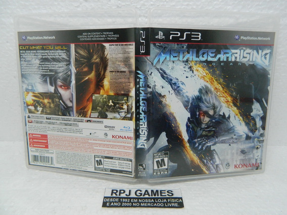 Metal Gear Rising Original Completa Midia Fisica P/ Ps3 Loja
