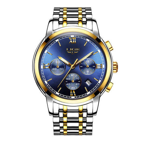 Lige Fashion Luxury Stainless Steel Men Relojes 3atm Reloj