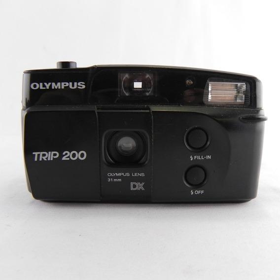 Câmera Analógica Olympus Trip 200 Dx Vintage Preta