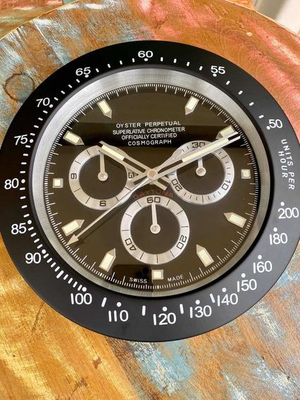Relógio Rolex De Parede 35cm Diâmetro Inox Lindo!!!