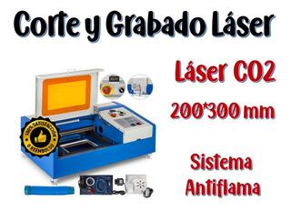 Nuevo!! Maquina Co2 Corte Y Grabado Láser 300x200 Mm