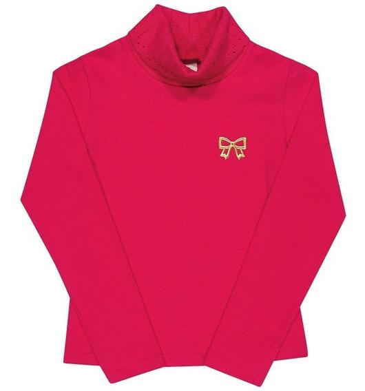 Blusa Infantil Menina Inverno Em Cotton Stretch 04 A 10 Anos