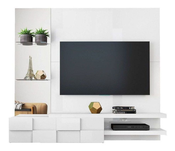 Painel De Tv Dj Móveis Turim P/ Tv Até 55 Branco