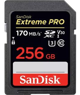 Cartão Sd Sdxc Extreme Pro 256gb 170mb/s Classe 10 4k Dslr