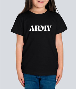 Playera Army Ejercito Militar Niña 1 Pza Envio Gratis