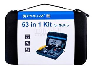 Gopro Puluz Kit 53 Accesorios Cámara Acción Go Pro 7 Lince