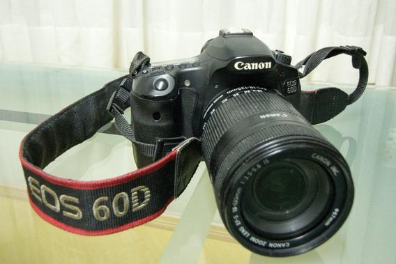 Câmera Canon Eos 60d Dslr - Lente 18-135mm Kit