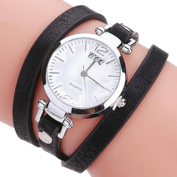 Relógio Pulseira De Couro Feminino Joia - Super Oferta