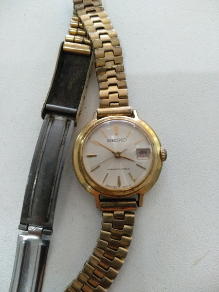 Relógio Seiko Antigo A Corda Folheado A Ouro.