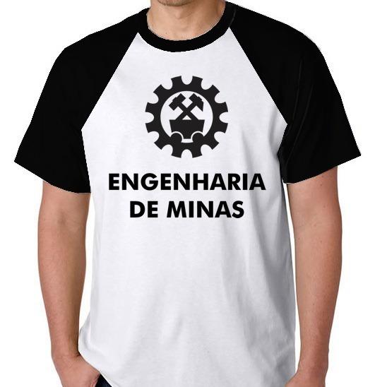 S/ Frete Camiseta Engenharia De Minas Blusa Raglan Camisa