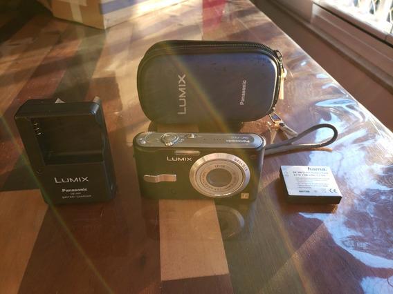 Camera Fotografica Lumix Panasonic Dmc-fx12 Com Bateria Extr