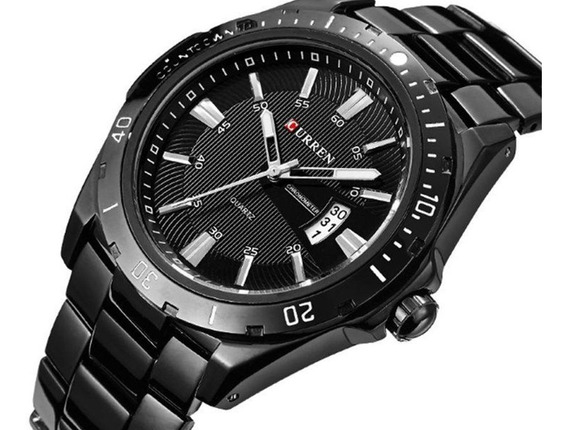 Relógio Masculino Curren De Luxo - Preto