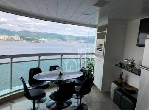 Apartamento Com 3 Dormitórios À Venda, 200 M² Por R$ 3.500.000,00 - Ingá - Niterói/rj - Ap1671