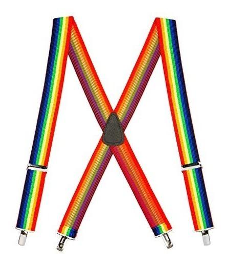 Suspender Store Tirantes De Clip Atados Con Arco Iris Para H