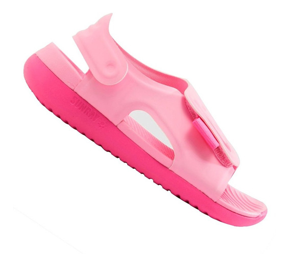 Sandália Nike Menina Sunray Adjust 2 Rosa Aj9076601 Original