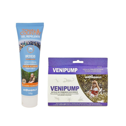 Kit Repelente Alta Eficacia+venipump Extrator Picada Mordida