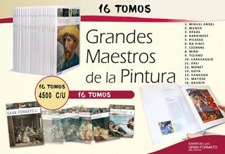 Grandes Maestros De La Pintura 16 Tomos 4o Verds