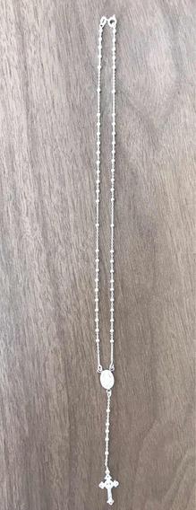 Terço Feminino De Prata 925 Bolinhas 2,5mm Mais Brinde