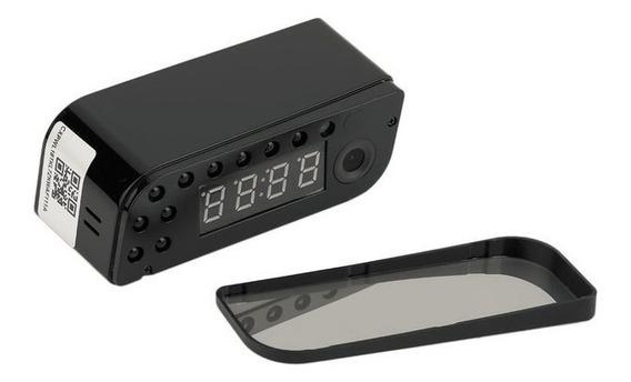 Relógio Eletrônico E Câmera Rede Sem Fio Wi-fi Monitor Hd