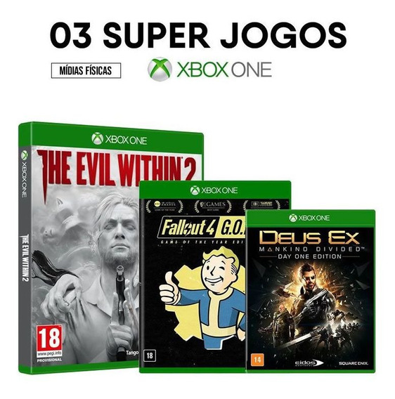 The Evil Within 2 + Fallout + Deus Ex Xbox One [ Lacrados ]