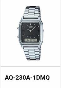 Promoção 24hs Relógio Casio De Aço Aq-230a-1d